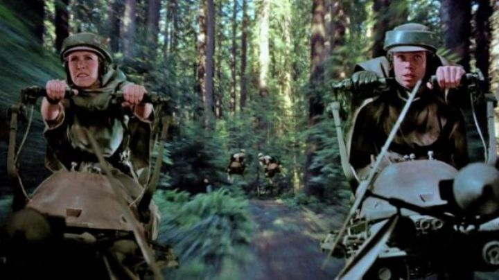 The camouflage of Luke and Leia in Star Wars VI : return of The Jedi - Movie Outfits and Products