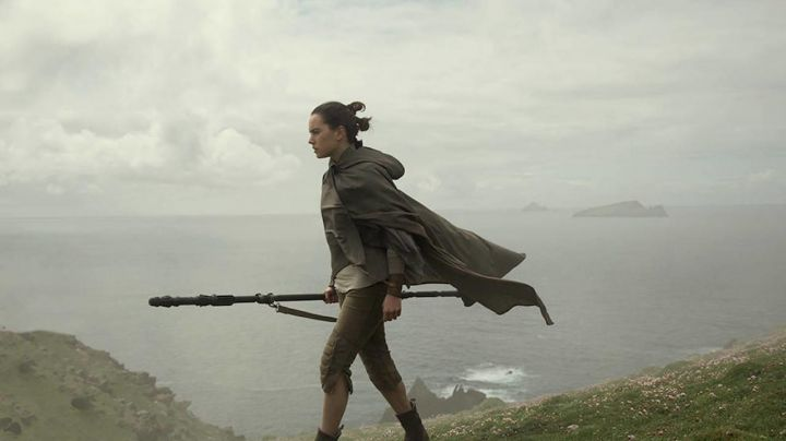 The capri pants of Rey (Daisy Ridley in Star Wars VIII : The last Jedi