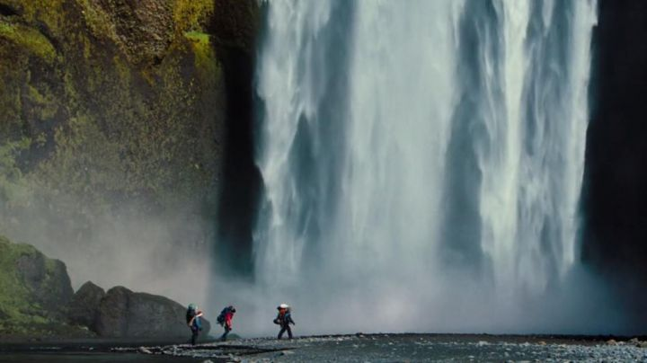 The cascade of Skógafoss in Iceland in The dream life of Walter Mitty - Movie Outfits and Products