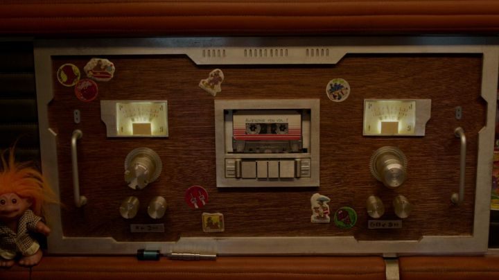 """The cassette tape """"Awesome Mix Vol. 1"""" Star-Lord (Chris Pratt) in Guardians of the Galaxy movie"""