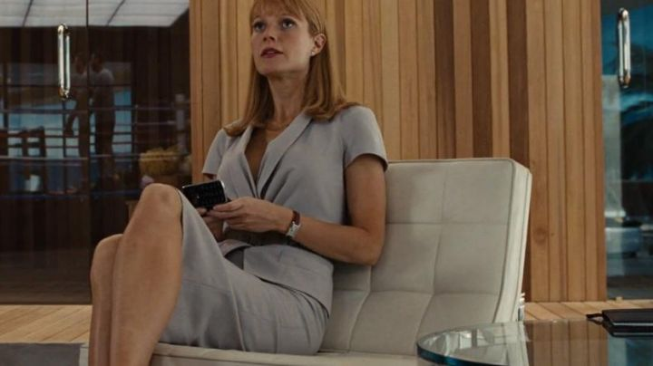 The chair Knoll of Pepper Potts (Gwyneth Paltrow) in Iron Man 2 - Movie Outfits and Products