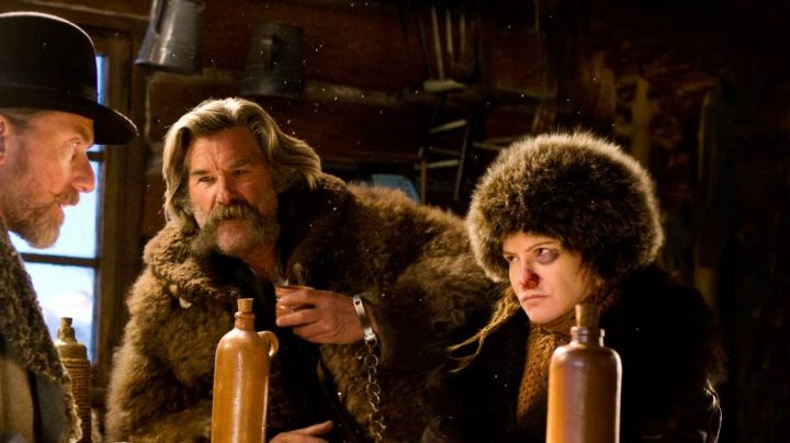 Fashion Trends 2021: The chef's hat in fur of Daisy Domergue, in The Hateful Eight