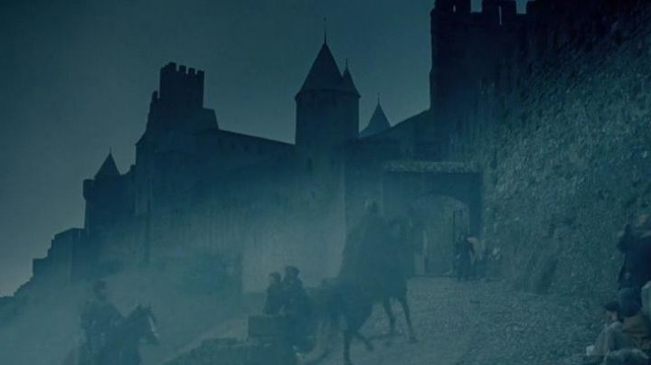 The city of Carcassonne in The Visitors - Movie Outfits and Products