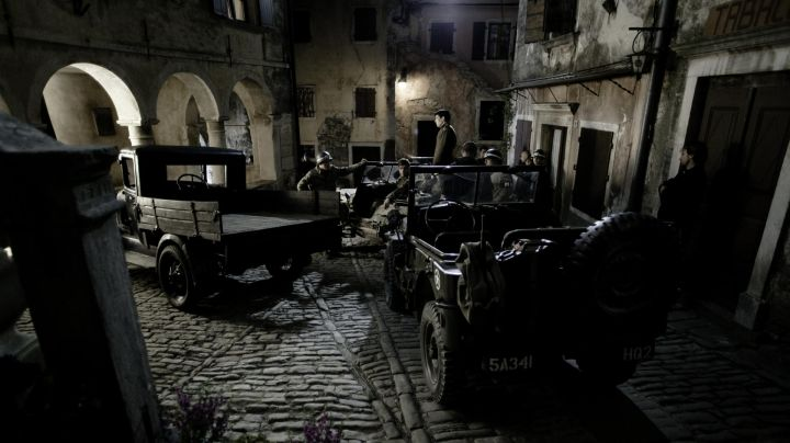 The city of Rovinj in Croatia turned into a small Italian village in Red Tails - Movie Outfits and Products