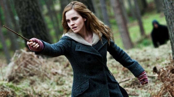 The coat of Hermione Granger (Emma Watson) in Harry Potter and the deathly hallows part 1. movie