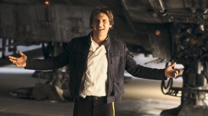 The complete look of Han Solo (Harrison Ford) in Star Wars Episode IV : A New hope - Movie Outfits and Products