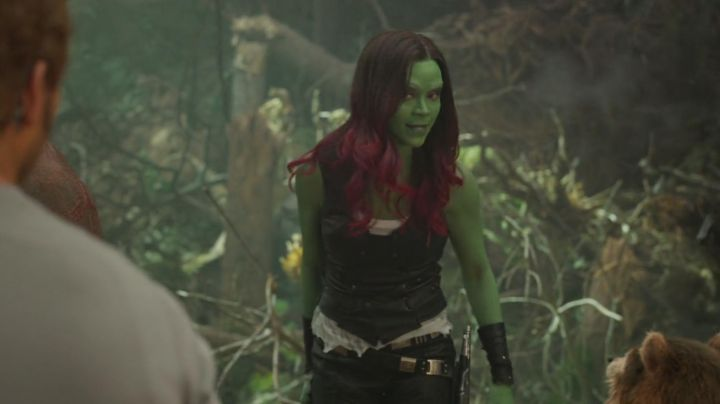 The cosplay of Gamora (Zoe Saldana) in The Guardians of the Galaxy Volume 2 - Movie Outfits and Products