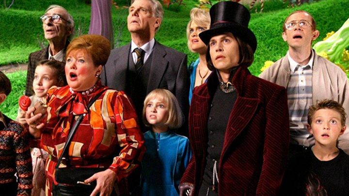 The costume child Willy Wonka in Charlie and the Chocolate factory