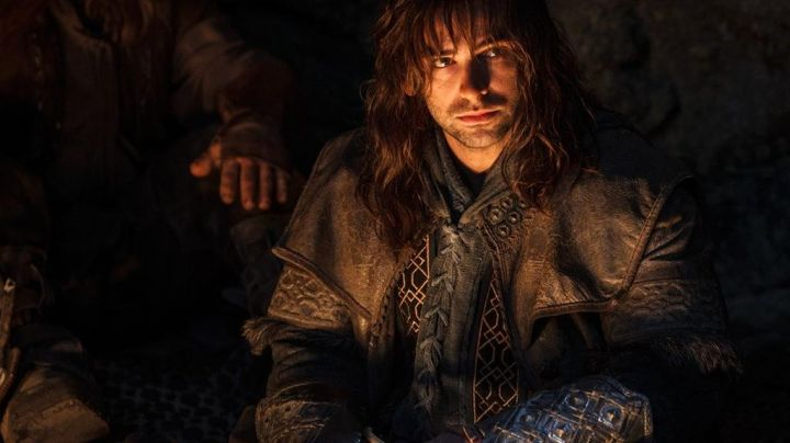 The costume is full of Kili (Aidan Turner) in The Hobbit : An unexpected journey Movie