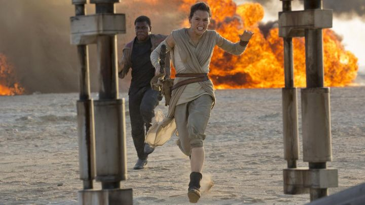 The costume of Rey (Daisy Ridley) on Jakku in Star Wars VII
