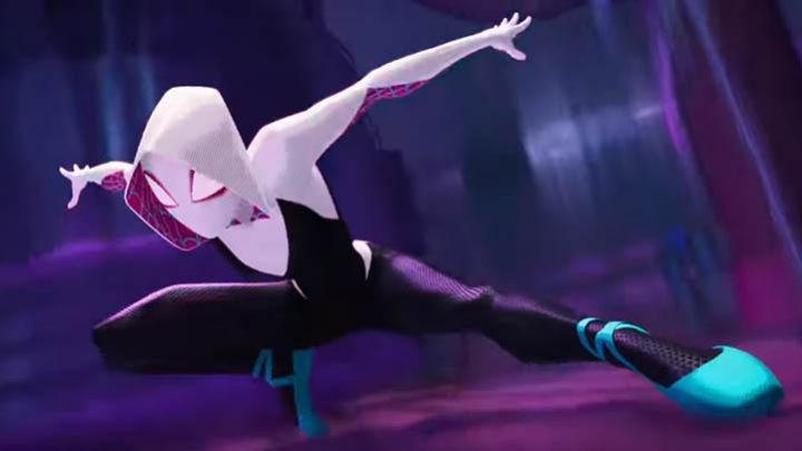 The costume of Spider-Gwen, Gwen Stacy (Hailee Steinfeld) in Spider-Man : New Generation - Movie Outfits and Products