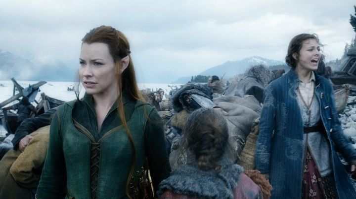 The costume of Tauriel (Evangeline Lilly) in The Hobbit : The Battle of the Five Armies - Movie Outfits and Products