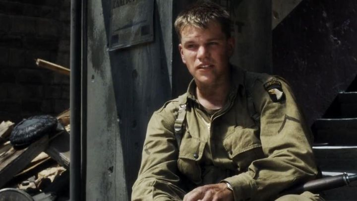 The crest 101st Airborne carried by Private Ryan (Matt Damon) in saving private Ryan Movie