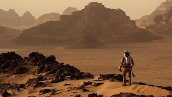 The desert of Wadi Rum in Jordan in One on March - Movie Outfits and Products