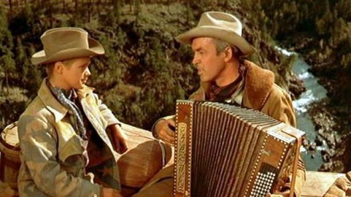 The diatonic accordion of Grant McLaine (James Stewart) in The survivor of the distant mounts - Movie Outfits and Products