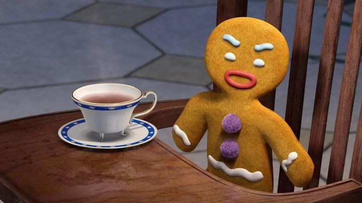 The disguise of a small cookie in the animated film Shrek Movie
