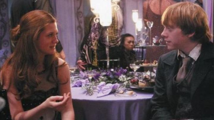 The dress of Ginny Weasley at the wedding of Fleur and Bill in Harry Potter and the deathly hallows - Movie Outfits and Products