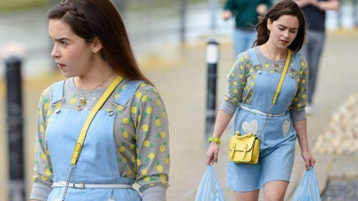 Fashion Trends 2021: The dress overalls blue Lou Clark (Emilia Clarke) in Before you