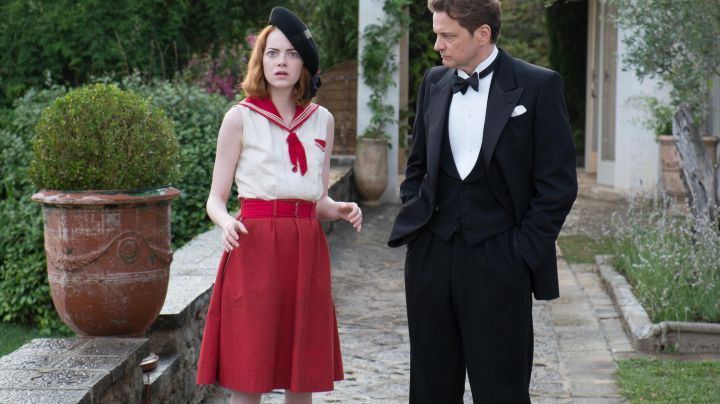 Fashion Trends 2021: The dress style navy of Emma Stone in Magic in the Moonlight