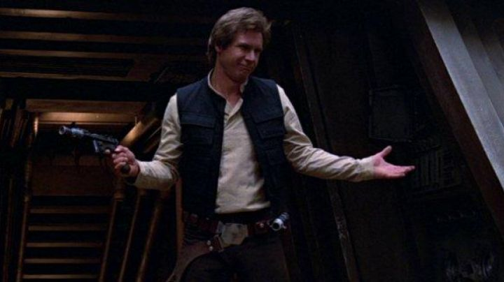 The droid caller Han Solo (Harrison Ford) in Star Wars IV : A new hope - Movie Outfits and Products