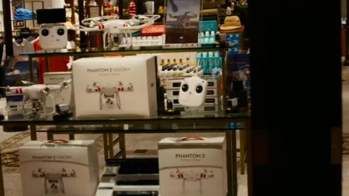 The drone DJI Phantom 2 Vision seen in Paul Blart: Mall Cop 2 - Movie Outfits and Products