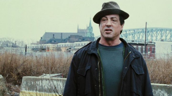 The fedora hat gray linen Rocky (Sylvester Stallone) in Rocky Balboa - Movie Outfits and Products