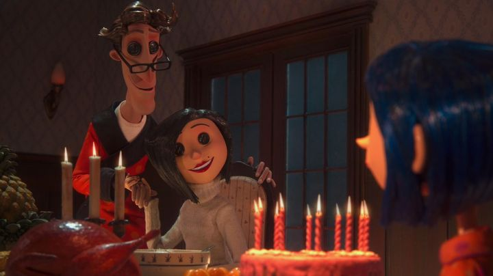 The fluff of a couple of parents of Coraline in Coraline - Movie Outfits and Products