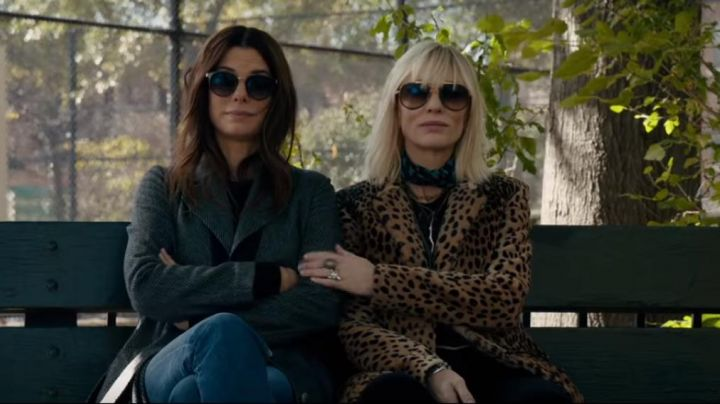 The fur coat leopard Lou (Cate Blanchett) in Ocean's Eight - Movie Outfits and Products