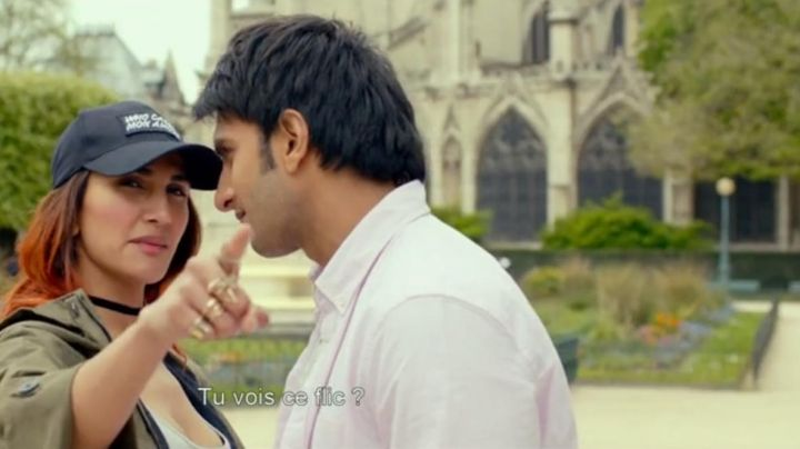 The garden Cathedral of Notre-Dame de Paris in Befikre ( Ranveer Singh and Vaani Kapoor ) - Movie Outfits and Products