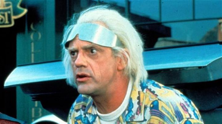 The glasses of the future worn by Dr. Emmett Brown (Christopher Lloyd) in Back to the future II Movie