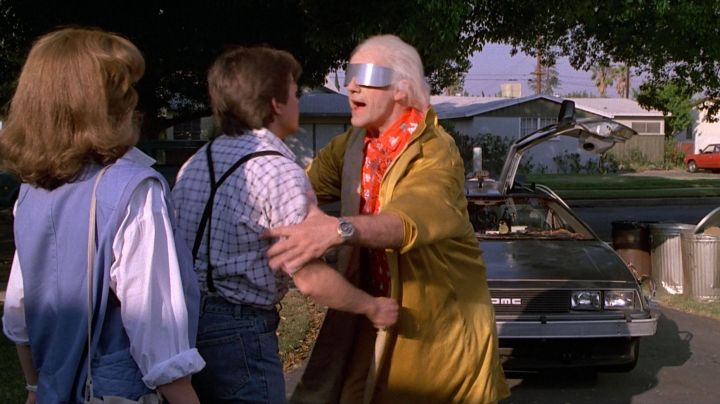 The goggles 2015 Doc Brown (Christopher Lloyd) in Back to the Future 2 movie