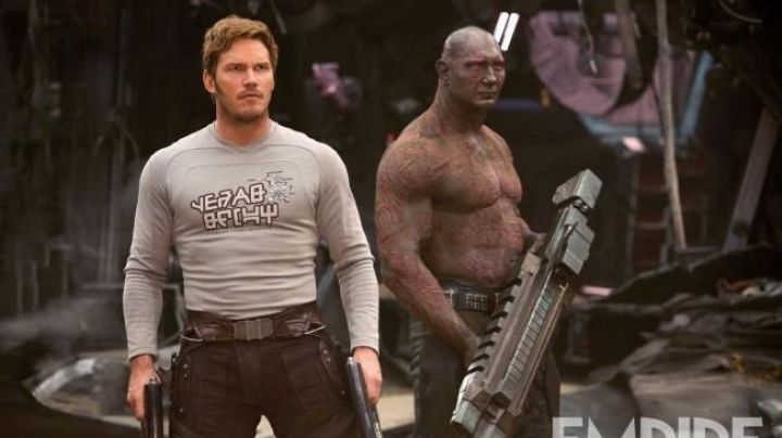 Fashion Trends 2021: The gray t-shirt peter Quill / Star-Lord (Chris Pratt) in guardians of the galaxy Vol.2