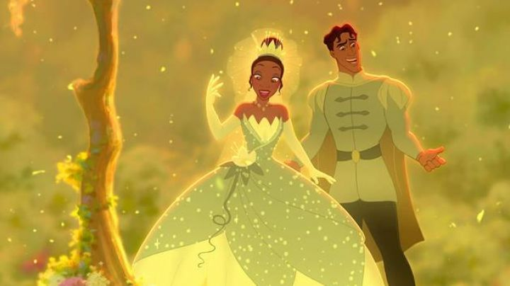 The green Dress of Tiana in the princess and The frog