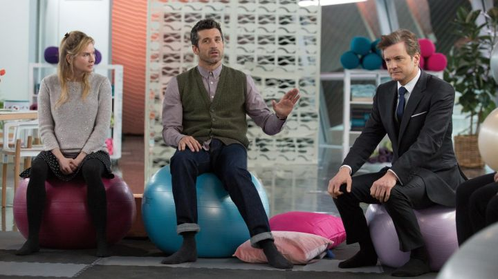 Fashion Trends 2021: The green jacket without sleeve of Jack Qwant (Patrick Dempsey) in Bridget Jones Baby