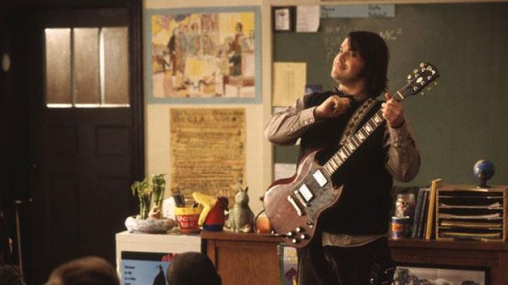 The guitar of Dewey Finn (Jack Black) in the movie School of rock / the Rock Academy - Movie Outfits and Products