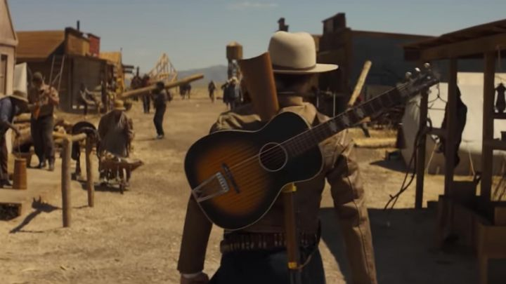 The guitar of Samuel Alabaster (Robert Pattinson) in Damsel - Movie Outfits and Products