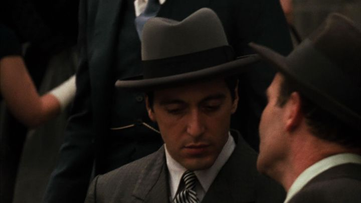 The hat Homburg of Michael Corleone (Al Pacino) in The godfather 1 & 2 movie