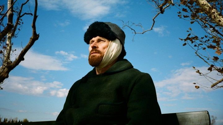The hat fur worn by Vincent Van Gogh (Willem Dafoe) in At Eternity''s Gate Movie