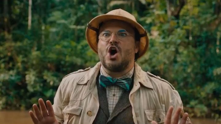 The hat of exploration of the teacher Shelly Oberon (Jack Black) in Jumanji : Welcome to the jungle Movie