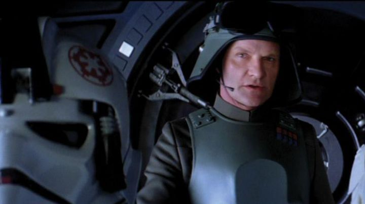 The helmet AT-AT Driver Helmet in The Empire strikes back movie