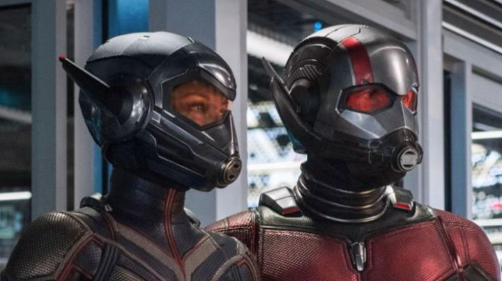 the helmet of Hope van Dyne / the Wasp (Evangeline Lilly) in the Ant-Man and the Wasp Movie
