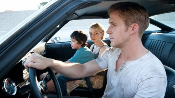 The henley shirt white driver (Ryan Gosling) in Drive - Movie Outfits and Products