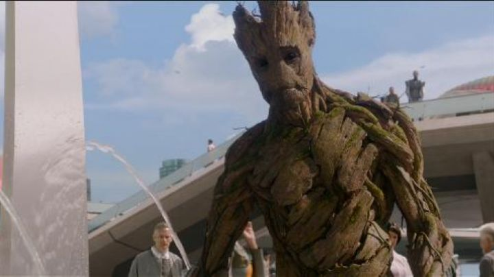 The holding of Groot in guardians of the Galaxy - Movie Outfits and Products