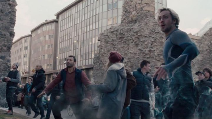The intersection of Via Torino and Via Vevey with wall and Hotel Turin Aosta in Avengers : Age of Ultron - Movie Outfits and Products