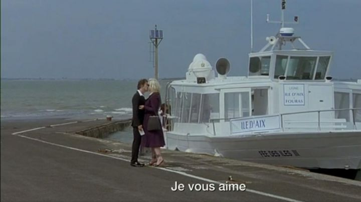 The island of Aix in the film's Tour (Miranda Colclasure, Mathieu Amalric) - Movie Outfits and Products