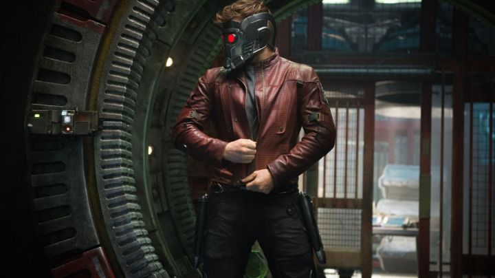 The jacket Star-Lord (Chris Pratt) in Guardians of the Galaxy movie