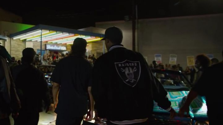 The jacket in Raiders of Corey Hawkins in Straight Outta Compton - Movie Outfits and Products