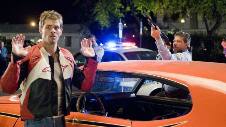 The jacket motorcycle Rex Lafferty (James Marsden) in Sex Drive - Movie Outfits and Products