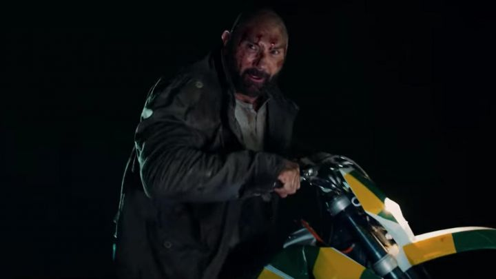 The jacket of Michael Knox (Dave Bautista) in Final Score Movie