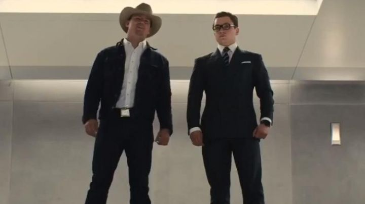 The jean jacket of Tequila in Kingsman : The Golden Circle - Movie Outfits and Products